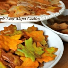 Maple Leaf Wafer Cookies