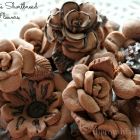 Chocolate Shortbread Flowers