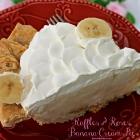 Ruffles & Roses Banana Cream Pie