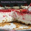 No Bake Raspberry Swirl Cheesecake