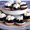 Two-bite Huckleberry Cheesecakes