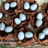 Chocolate Shortbread Bird Nests