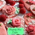 Raspberry Rose Cookies