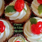 Cherry Key Lime Cupcakes