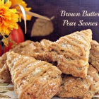 Brown Butter Pear Scones