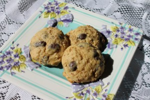 Leftover Oatmeal Cookies with chocolate covered raisins!