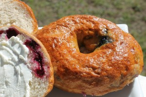 Huckleberry Bagels - The Rowdy Baker