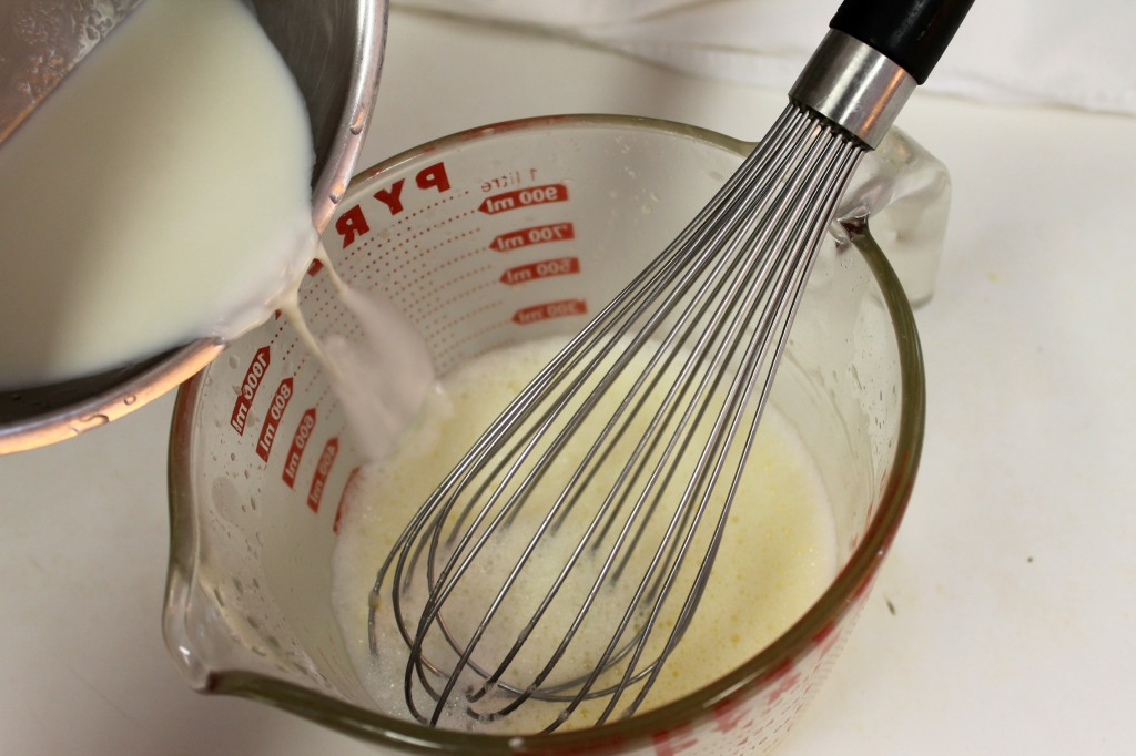 Whisk half & half into cornstarch mixture
