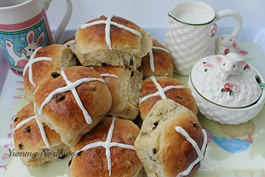 Easter hot cross buns watermark YNW