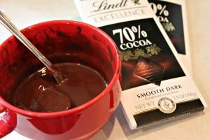 Melting the chocolate. Go slow!