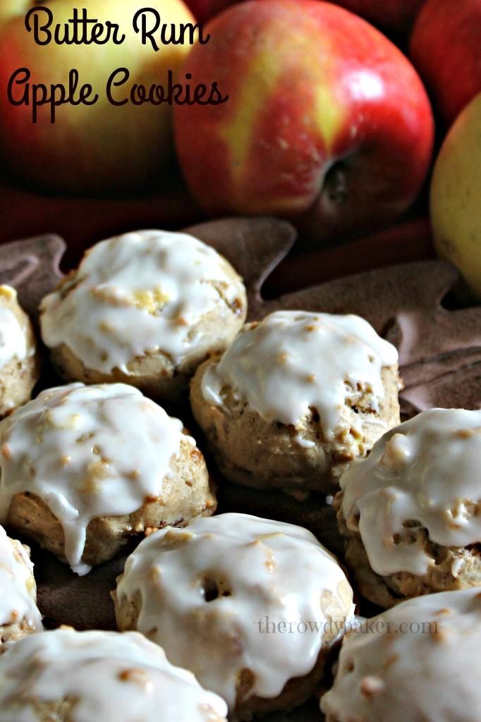 Butter Rum Apple Cookies