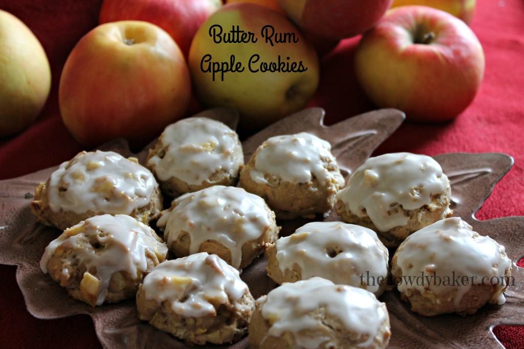 butter rum apple cookies horizontal
