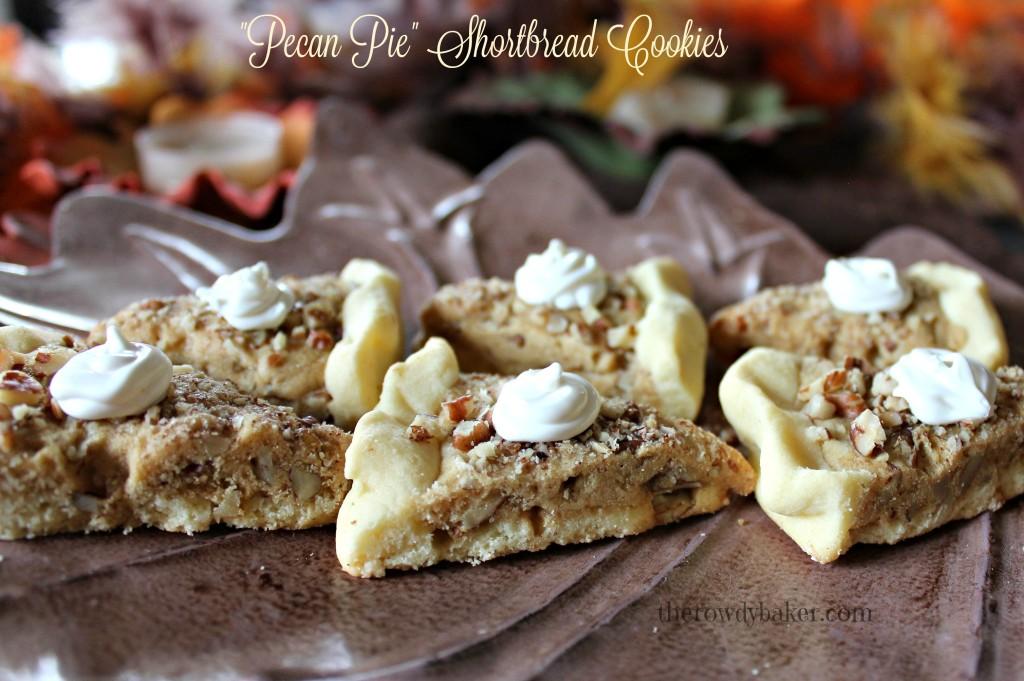 Pecan Pie Shortbread Cookies - The Rowdy Baker