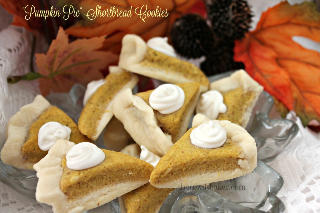 Pumpkin pie shortbread cookies horiz watermarked